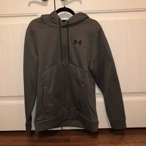 Gray Under Armour pullover hoodie